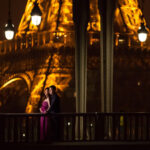 engagement in paris by night