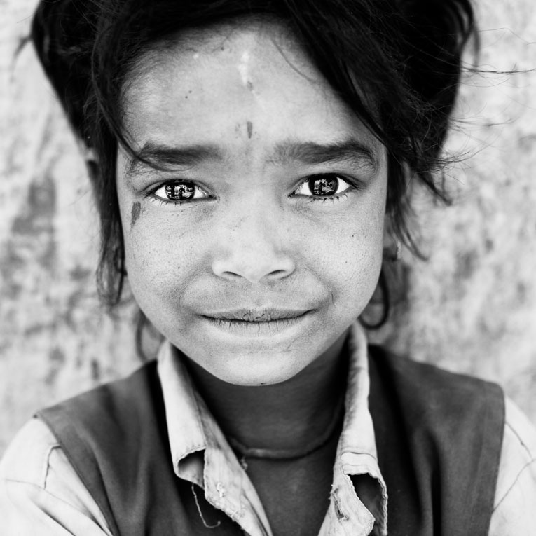 photo portrait enfant rajasthan inde