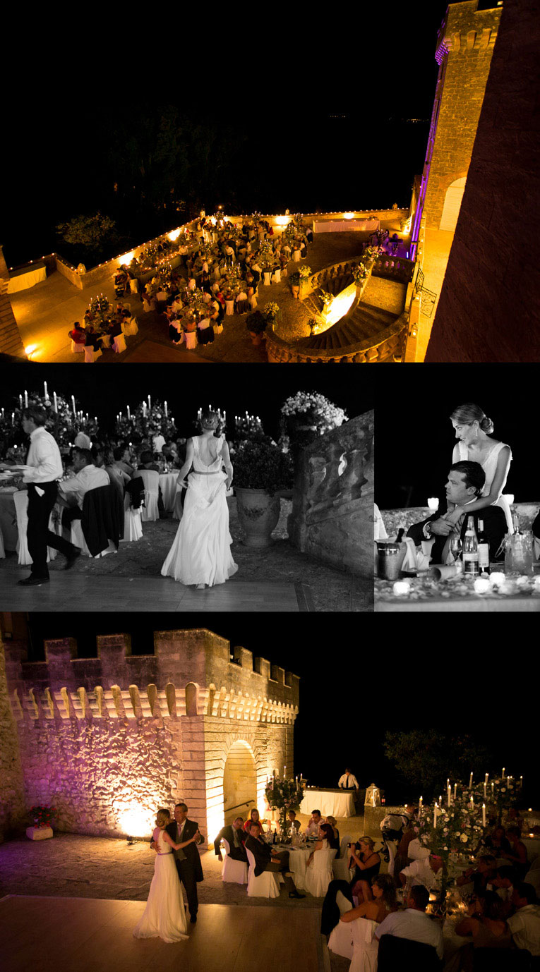 photo reception chateau de la barben mariage