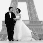 pre wedding in Paris with karen and gary