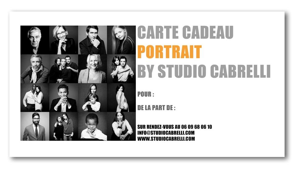 bon cadeau portrait studio