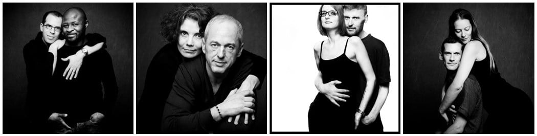 couples photoshoot black and white paris